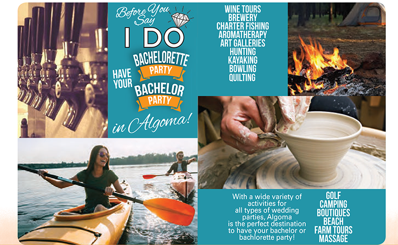 Have you bachelor or bachelorette party in Algoma, WI!