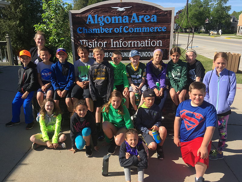 Algoma Elementary School Summer Camp class visits the Algoma Chamber