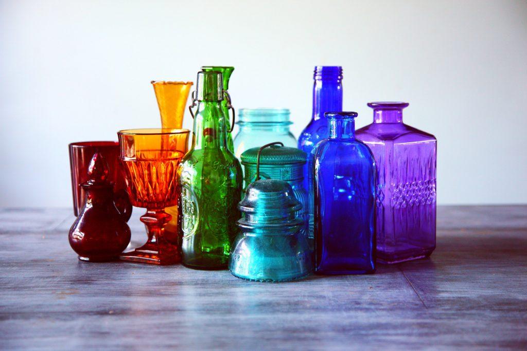 beach glass bottles