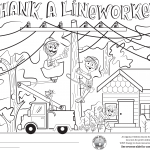 Thank A Lineworker Coloring Contest