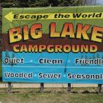 Big Lake Campground Sign