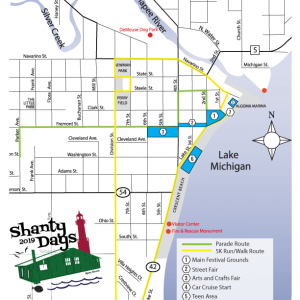 2019 Algoma Shanty Days Map