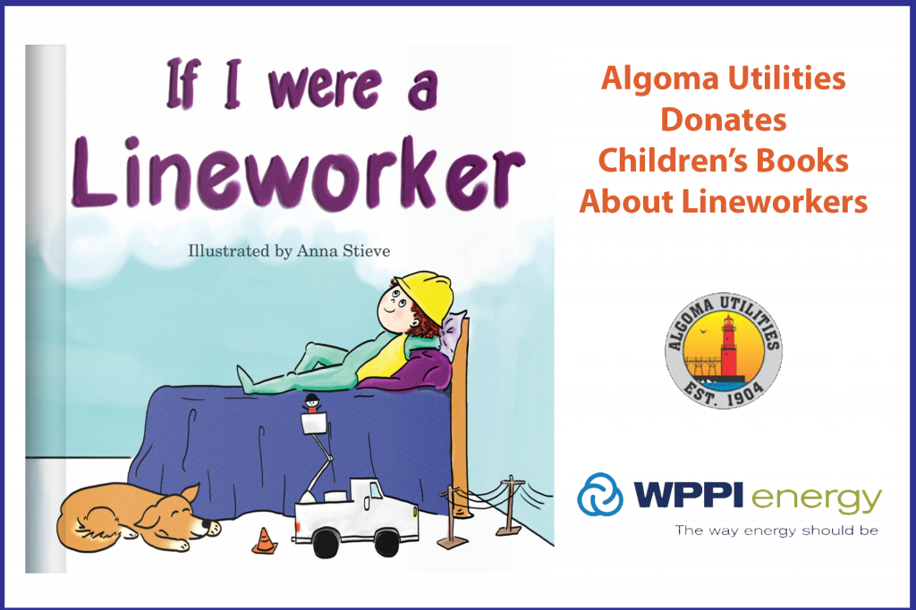 Algoma Utilities Donates Children's Books About Lineworkers