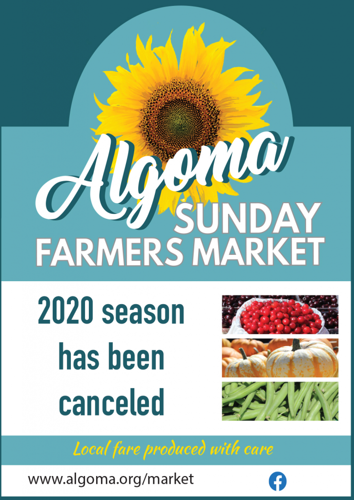 Algoma Sunday Farmers Market canceled for 2020