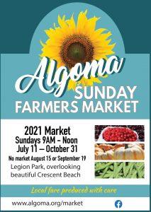 Algoma Summer Farmers Market 2021