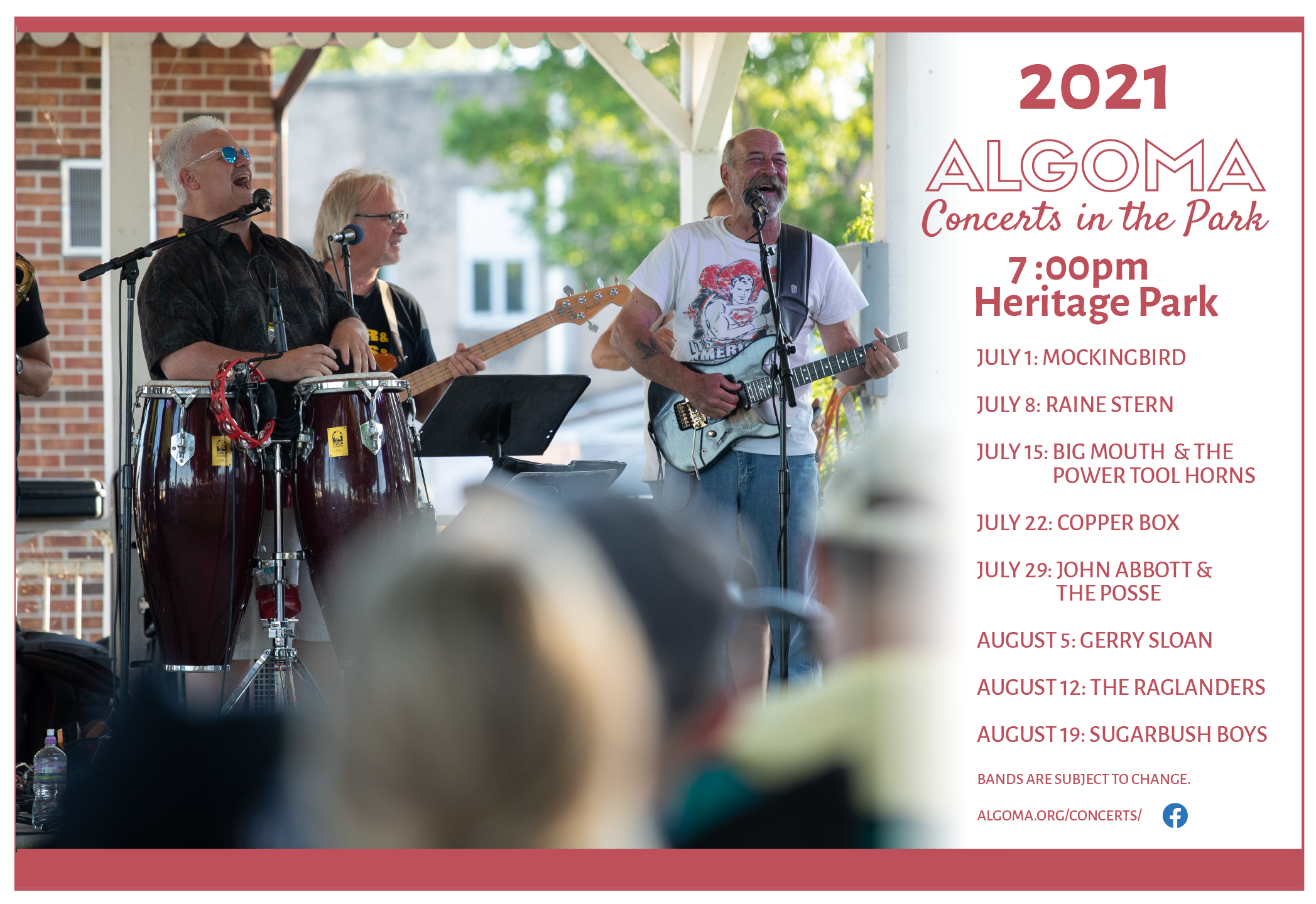 Algoma Summer Concerts in the Park 2021 Schedule